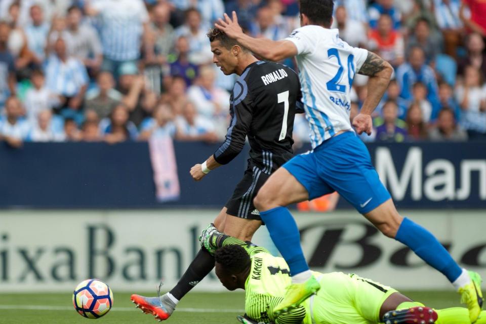Cristiano Ronaldo hanya butuh 2 menit untuk membawa Madrid unggul